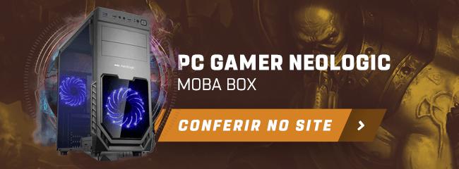 Banner para a página de PCs Neologic MOBA Box da Shopinfo.