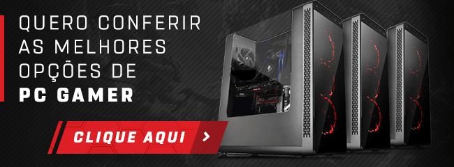 Banner para a seção de PCs gamer no site da Shopinfo