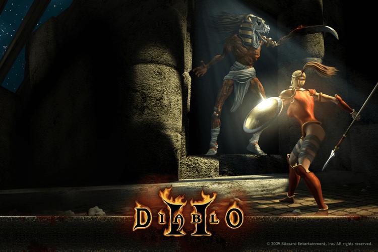 Capa do jogo Diablo II.