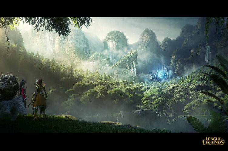 Ilustração de League of Legends.