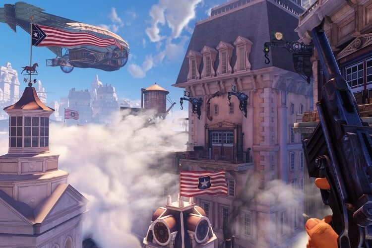 Screenshot do jogo Bioshock Infinite.