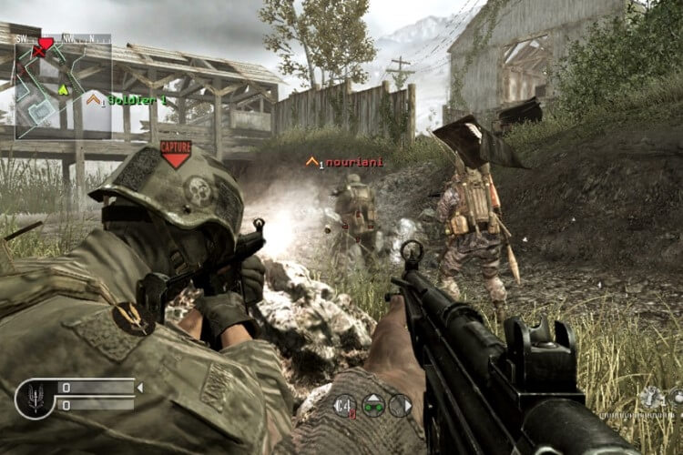Screenshot do jogo Call Of Duty 4: Modern Warfare.