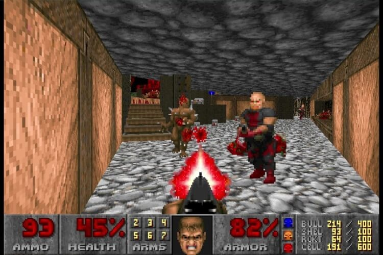 Screenshot do jogo Doom.