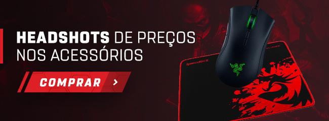 Banner para a página de acessórios gamer da Shopinfo.