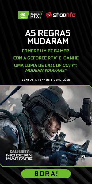 Banner para a promoção de Call of Duty no site da Shopinfo.