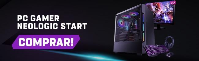 Banner para a página do PC Gamer Neologic Start, no site da Shopinfo.