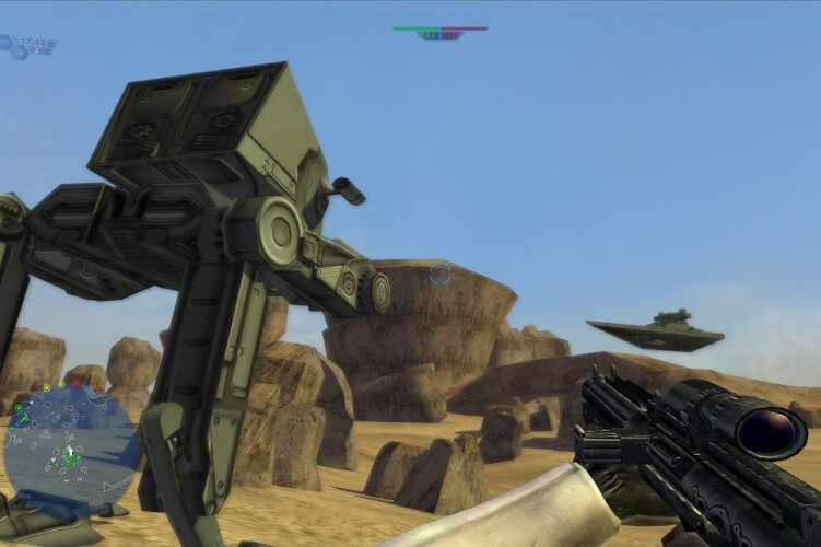 Screenshot do jogo: Star Wars Battlefront.