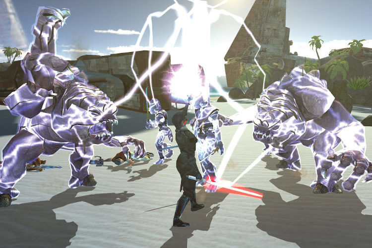 Screenshot do jogo: Star Wars - Knights of the Old Republic.