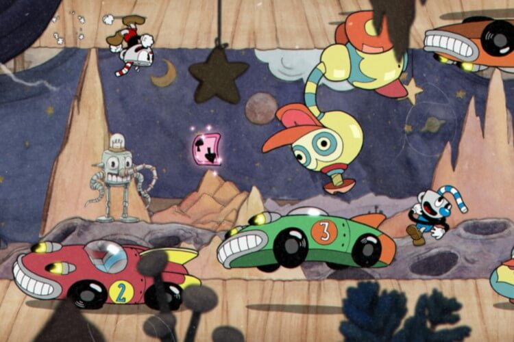 Screenshot do jogo Cuphead.