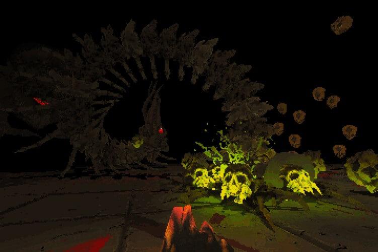 Screenshot do jogo Devil Daggers.