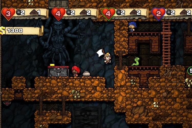 Screenshot do jogo Spelunky.