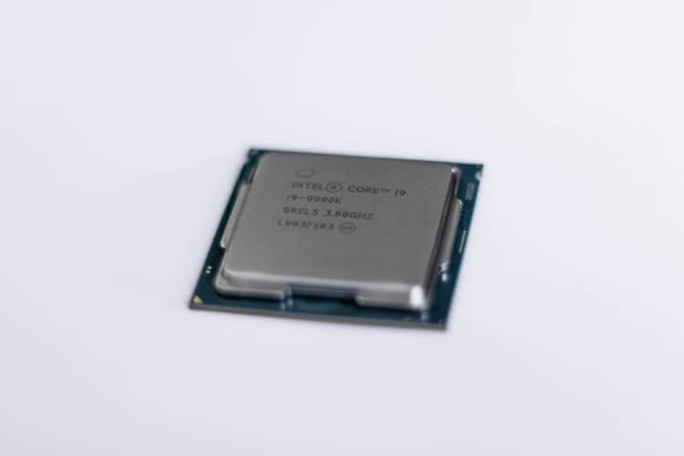 Imagem de uma CPU Intel Core i9.