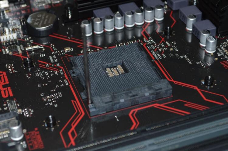 Soquete para CPU do tipo PGA.