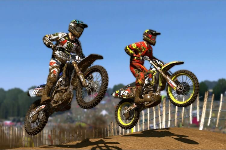 Screenshot do jogo MXGP.