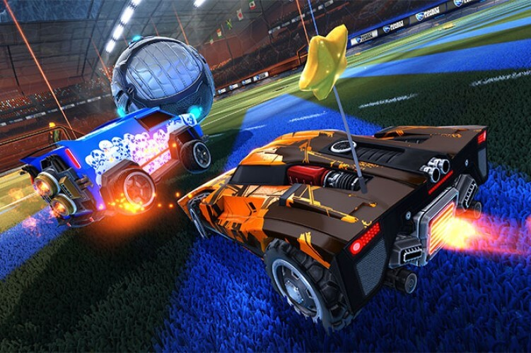 Screenshot do jogo Rocket League.