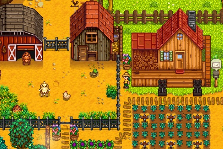 Screenshot do jogo Stardew Valley.