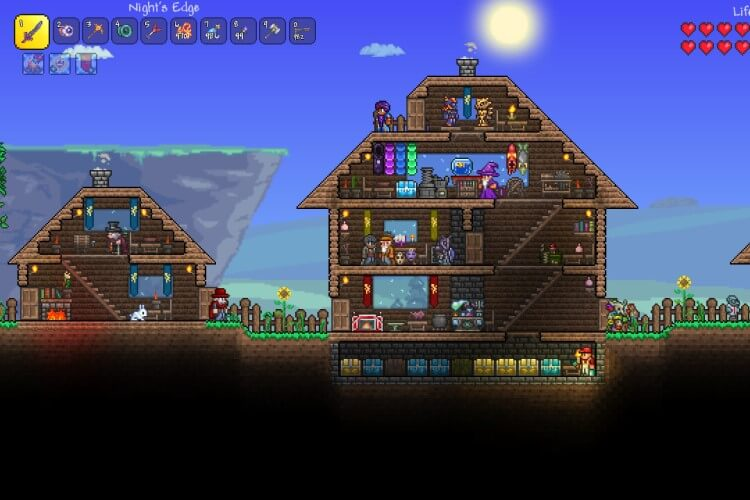 Screenshot do jogo Terraria.
