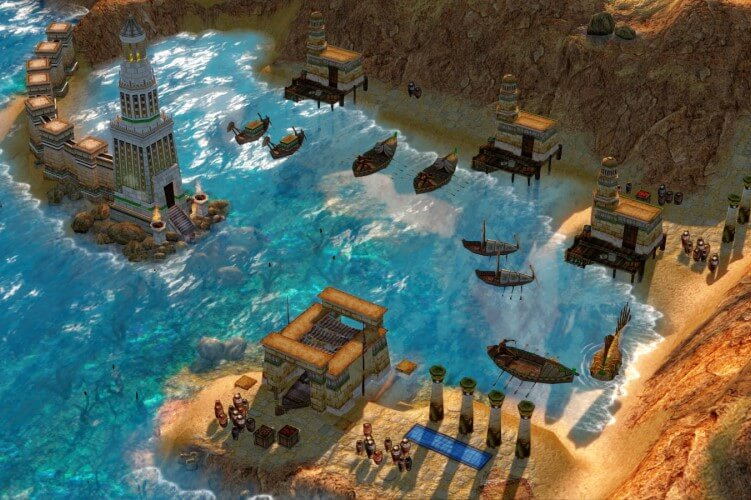 Screenshot do jogo Age of Mythology: Extended Edition.