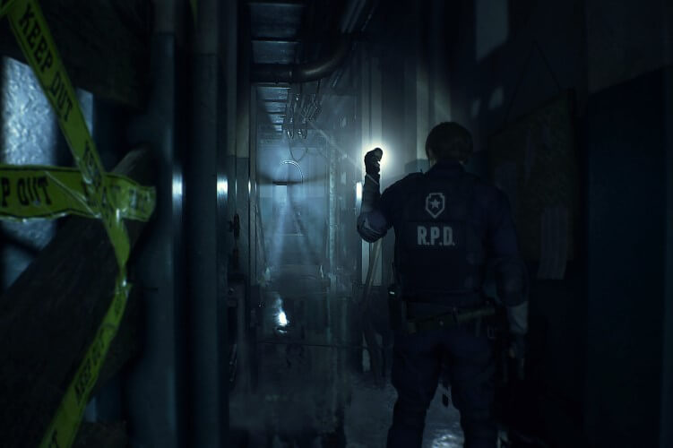 Screenshot do jogo Resident Evil 2 (remake).