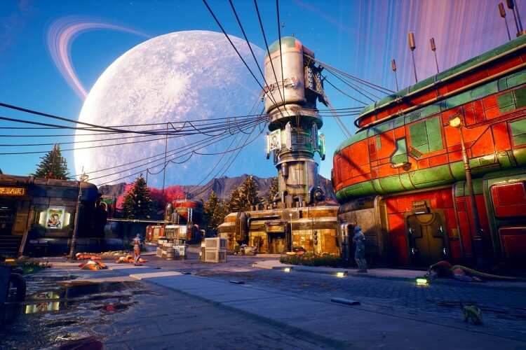 Screenshot do jogo The Outer Worlds.