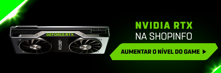 Banner para a página da Shopinfo com placas Nvidia RTX.