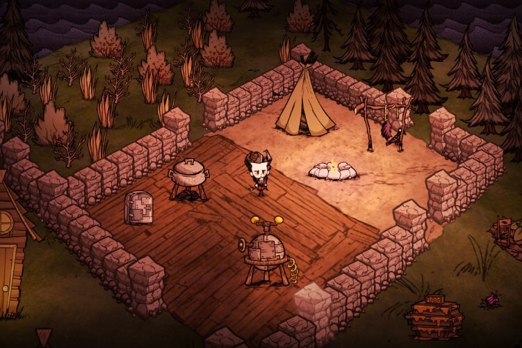 Screenshot do jogo Don't Starve.