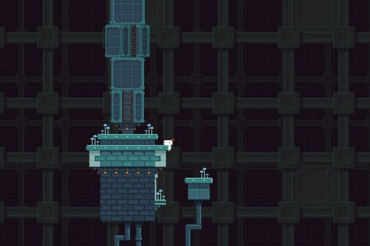 Screenshot do jogo FEZ.