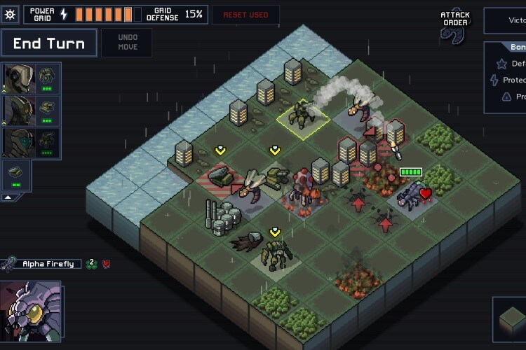 Screenshot do jogo Into the Breach.