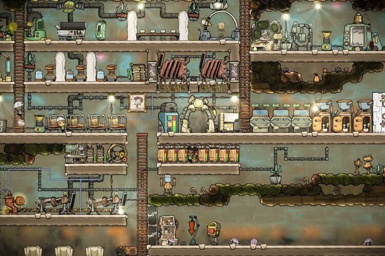 Screenshot do jogo Oxygen Not Included.