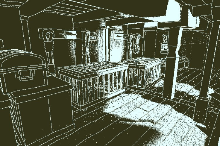 Screenshot do jogo Return of the Obra Dinn.