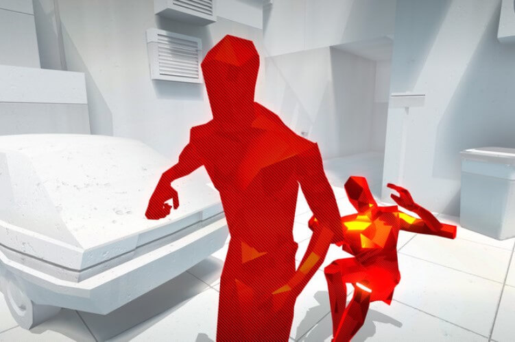Screenshot do jogo Superhot.