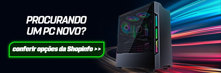 Banner para página de computadores gamer da Shopinfo.