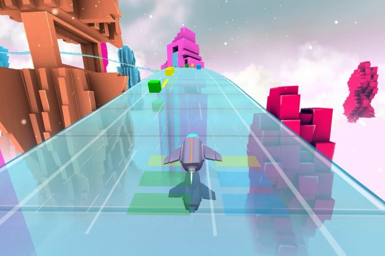 Screenshot do jogo Audiosurf 2.