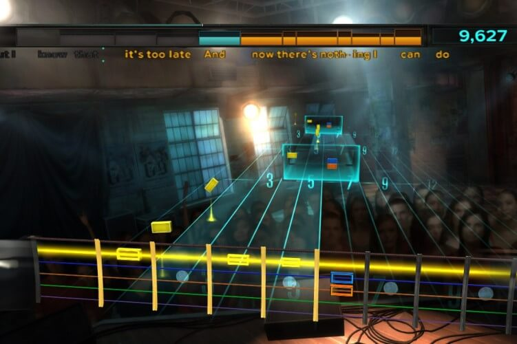 Screenshot do jogo Rocksmith.