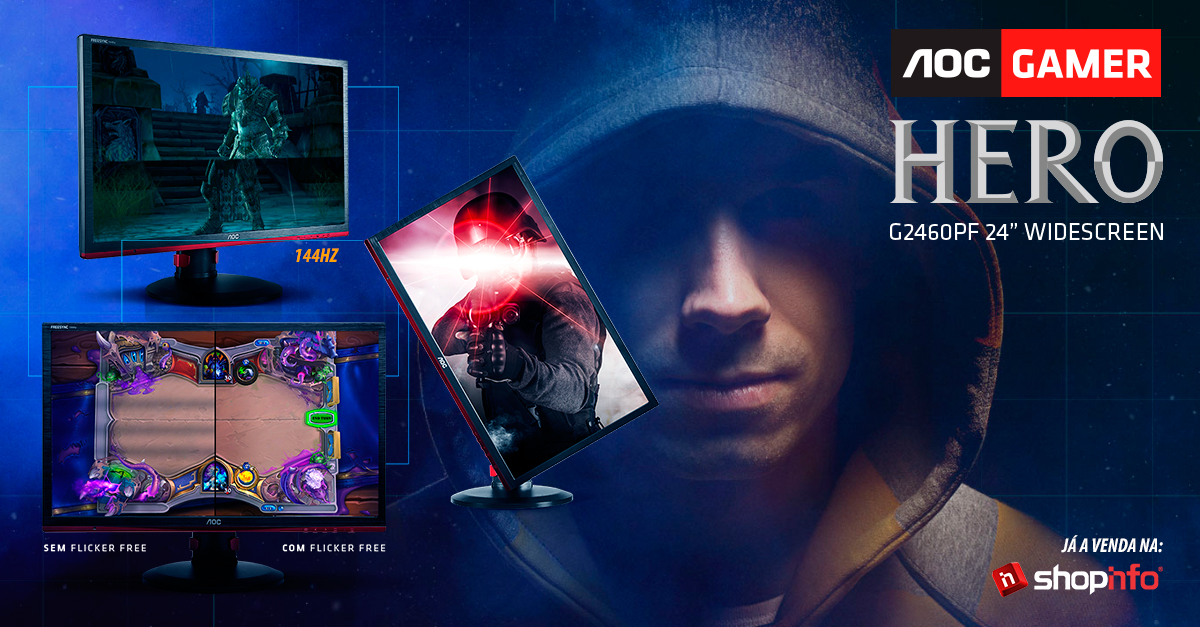 Novo Monitor Gamer AOC! Chega com tudo