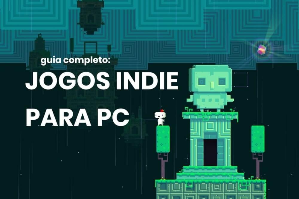 Screenshot do jogo FEZ, com título do post em destaque.