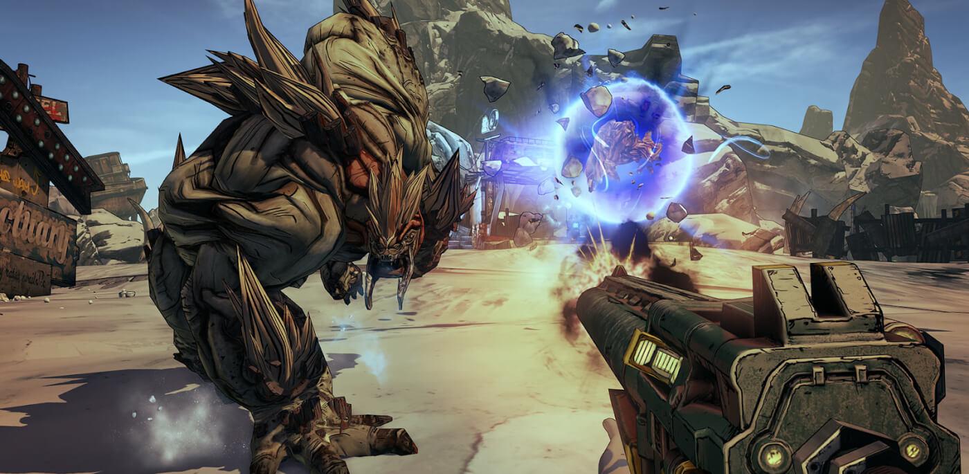 Screenshot do FPS Borderlands 2.