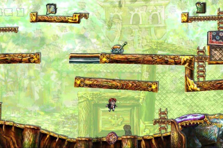Screenshot do jogo Braid.