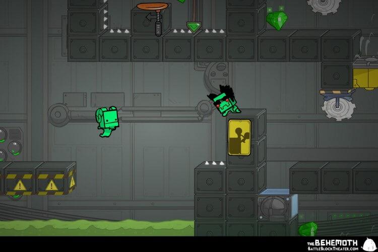 Screenshot do jogo BattleBlock Theater.