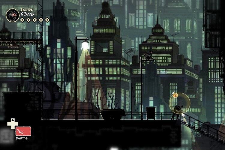 Screenshot do jogo Mark of the Ninja.