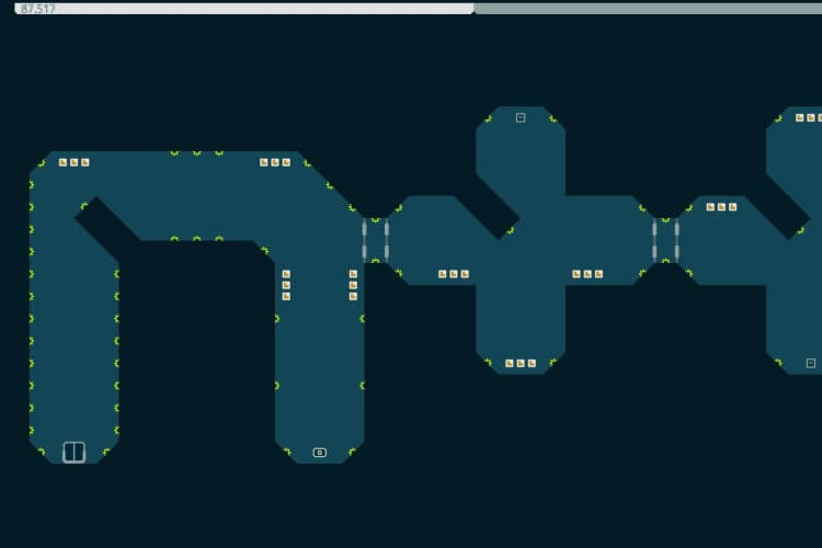 Screenshot do jogo N++.