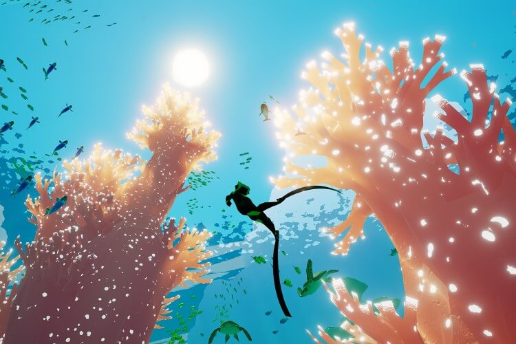 Screenshot do jogo ABZU.