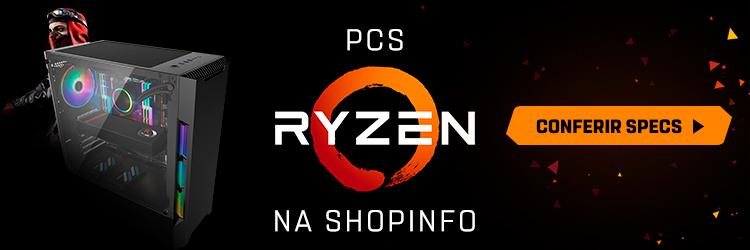 Banner para a página de PCs com Ryzen na Shopinfo.