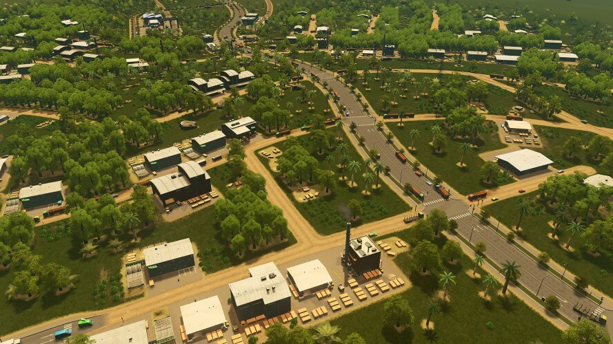 Screenshot do jogo Cities: Skylines.
