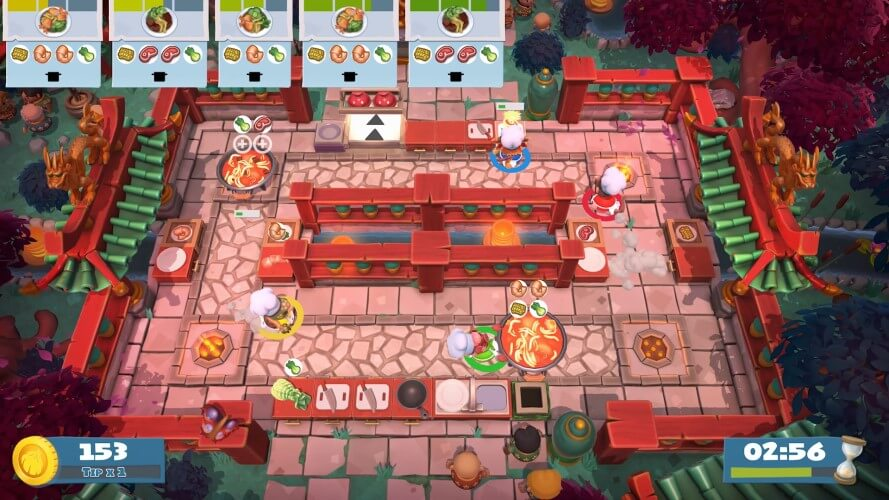 Screenshot do jogo Overcooked 2.