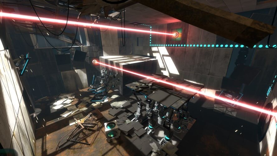 Screenshot do jogo Portal 2.