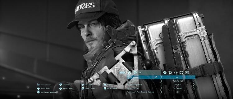 Personagem do jogo olhando para o espectador.