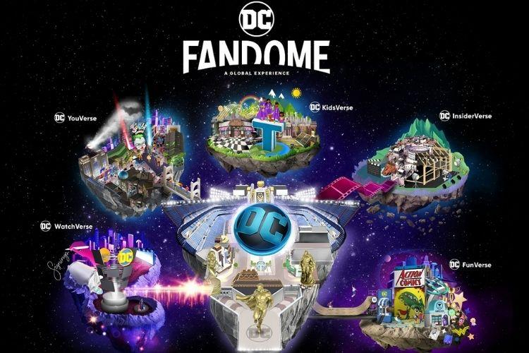 arte da DC com os multiversos da DC FanDome