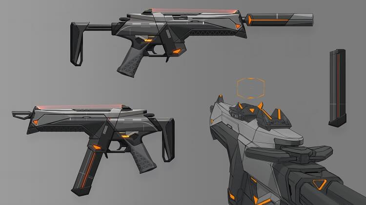 Concept art de arma em Valorant
