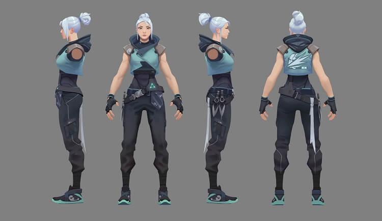 Imagem mostrando como foi a confecção da personagem Jett